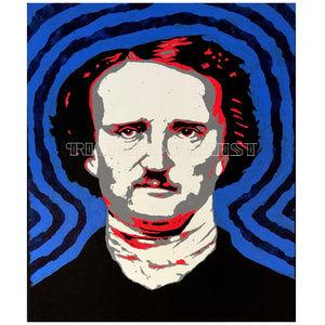 NWT Edgar Allan Poe Pop Art PRINT Painting Decor